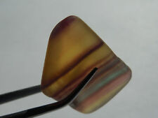 28mm tumbled NATURAL RAINBOW FLUORITE from ARGENTINA 9.25g HEALING; ORGONE; #4