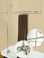 ADD ON SHOWER FOR CLAWFOOT TUB INCLUDES SHOWER ROD AND FAUCET SHOWER SURROUND