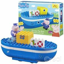 New Peppa Pig Grandpa Pig's Boat Construction Playset & Figure Build Official