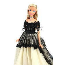 Handmade popular fashion dress wedding gown clothes outfits for barbie doll
