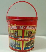 Vintage Tin Barnum's Animals Crackers National Biscuit Company Tin Container