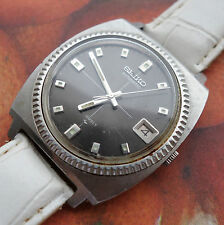 Rare Vintage Men SEIKO Automatic Wrist Watch, Coin Bezel Case, 7005 JAPAN