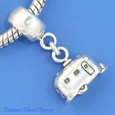AIRSTREAM TRAILER CAMPER CARAVAN .925 Sterling Silver EUROPEAN EURO Bead Charm