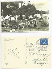 Scout Netherlands national camp 1950 Ommen postcard + cancel