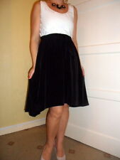 BNWT LADIES*NEXT*DRESS,Size10(UK)BLACK/WHITE COLOUR BLOCK RELAXED TAILORED,New