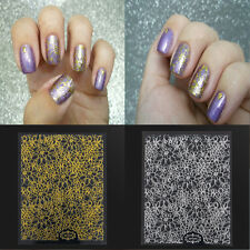 Fashion 3D Nail Art Stickers Gold Embossed Flower Nail Decals Tips Decoration