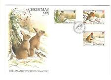 ISLE OF MAN COVER FDC CHRISTMAS 1988 NON ADDRESSED BIRD STAMPS WONDERFUL COVER