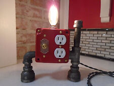 Industrial, Steampunk Lamp (Red Robot)