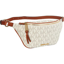 NWT Michael Kors PVC Rhea Zip Belt Waist Bag Vanilla