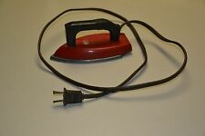 Vintage 1940's Red & Black Little Lady child's electric toy iron