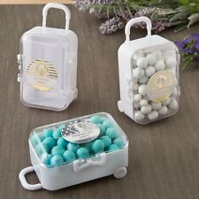 50 Personalized Metallic Collection Travel Suitcase Wedding Shower Favors