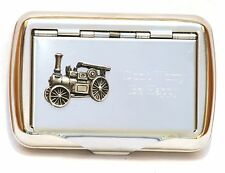 Traction Engine Steam Vintage Tobacco Hand Rolling Up Cigarette Tin Farming Gift