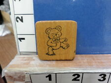 bear dancing child rubber stamps 33x