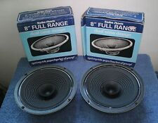 "Two Radio Shack 40-1272D 8"" Full Range Dual Cone Speakers - Pair in Box!!"