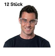 12 Stück Schutzbrille EN166 Kunststoff-Scheiben, klar leicht schlagbeständig