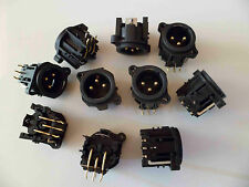 10 x XLR NEUTRIK Chassis Panel connector (Male) NC3MAH GOLD New 10pcs