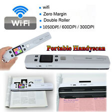New iSCAN 1050DPI HD Wifi Portable Scanner JPG PDF Book Document Photo Handyscan