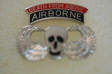 US USA Army Death From Above Airborne Military Hat Lapel Pin