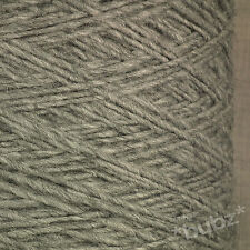 ALPACA WOOL YARN ARAN / DK 500g CONE 10 BALL MEDIUM SCHOOL GREY DOUBLE KNITTING