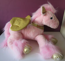 "Tesco énorme misty or rose cheval volant 25"" peluche soft toy chilly licorne 06"