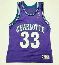 Alonzo Mourning Charlotte Hornets Champion Jersey 40 Vintage 90s USA Made