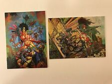 PROMO CARDS: HEAVY METAL FAKK2 ROUGH CUT 1997 Comic Images: 2 DIFFERENT #1 & #2