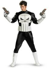 Adult Marvel Comics The Punisher Antihero Frank Castle Skull Suit Muscle Costume