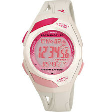 Casio STR300-7, 60-Lap Memory, White Resin Watch, 4 Alarms, Day/Date