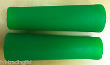 LIME / NEON GREEN 120mm HANDLEBAR GRIPS - FIXIE MTB ETC FIT 22.2mm BARS