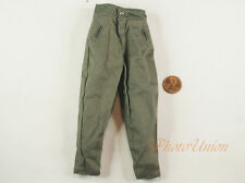 1:6 Action Figure WW2 German Army Soldier Green Pants Trousers Uniform DA204