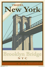 Brooklyn Bridge - Travel New York Poster Print, 24x36