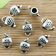 10pcs Tibetan silver flower watering can bail connectors EF1316