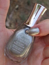 NEW! Sally Hansen Diamond Strength Nail Polish in BRIDE TO BE Silver Metallic