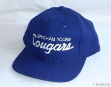 BRIGHAM YOUNG COUGARS Vintage Hat 80's Snapback Cap SPORTS SPECIALTIES BYU