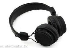Black Wireless Stereo Bluetooth Headphones for iPhone 5 6 Samsung Galaxy NEW