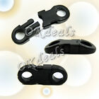 7Pcs New Buckles Black For Paracord Bracelets Plastic Safety Clasp Side Release