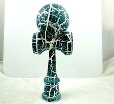 Beautiful Green on White Kendama All-Over Crackle Pattern matt paint P_2