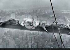 MEN ON A GIRDER POSTER 'THE NEW YORK COLLECTION' STEEL WORKERS 'MANHATTAN' RKO