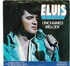 USA 1978 PICT SLEEVE SP 45 RPM ELVIS PRESLEY : UNCHAINED MELODY