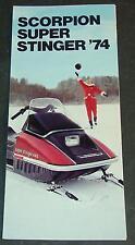 VINTAGE 1974 SCORPION SUPER STINGER SNOWMOBILE SALES BROCHURE  (261)