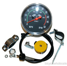 Old School Universal Speedometer For Bicycles NOS