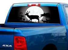 P440 Deer Buck Rear Window Tint Graphic Decal Wrap Back Truck Tailgate