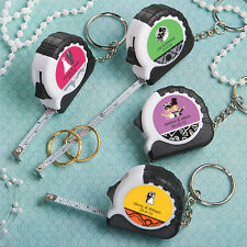 50 Personalized Measuring Tape Key Chain Bridal Wedding Party Favor Bulk Lot