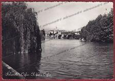 BRESCIA PALAZZOLO SULL'OGLIO 06 FIUME Cartolina FOTOGRAFICA viaggiata 1951