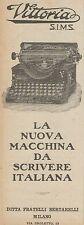 Z3039 Macchina da scrivere VITTORIA S.I.M.S. - Pubblicità d'epoca - 1925 old ad