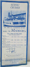 Vintage Scenic Cruises St. Lawrence River La Madelon Montreal Canada EXPO 67