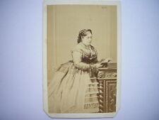 Photo CDV de la reine Isabelle II d'Espagne par Le Jeune - Second Empire