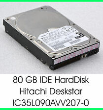 "3,5"" 8,89 cm 80 GB 80gb IDE Disco Rigido HDD HITACHI ic35l090avv207-0 7200u/m - f25"