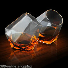 Diamond Shaped Whisky Drinking Glasses Spirit Glass Tumblers Drinking Gift Idea