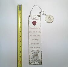 Mum Teddy Bear Wall Plaque & Key Ring Gift Ideas for Her Mothers Day